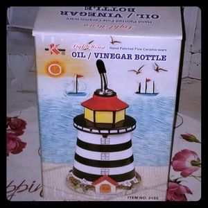 💥FREE💥LIGHTHOUSE OIL/VINEGAR BOTTLE